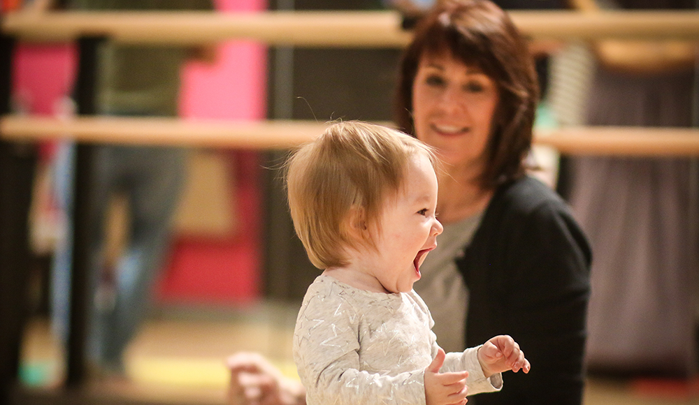 Baby and mommy dance classes at the Salsa With Silvia dance studio