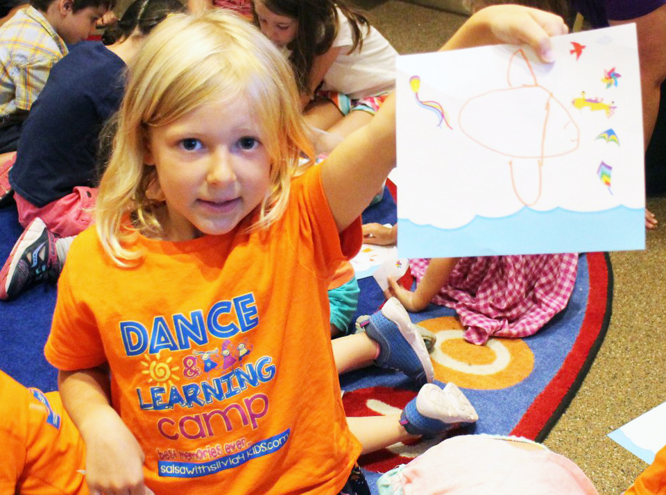 Arts and crafts at the Salsa With Silvia Dance and Learning camps for kids.