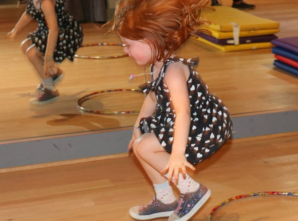 Obstacle courses and games at the Salsa With Silvia bilingual dance and learning camps.