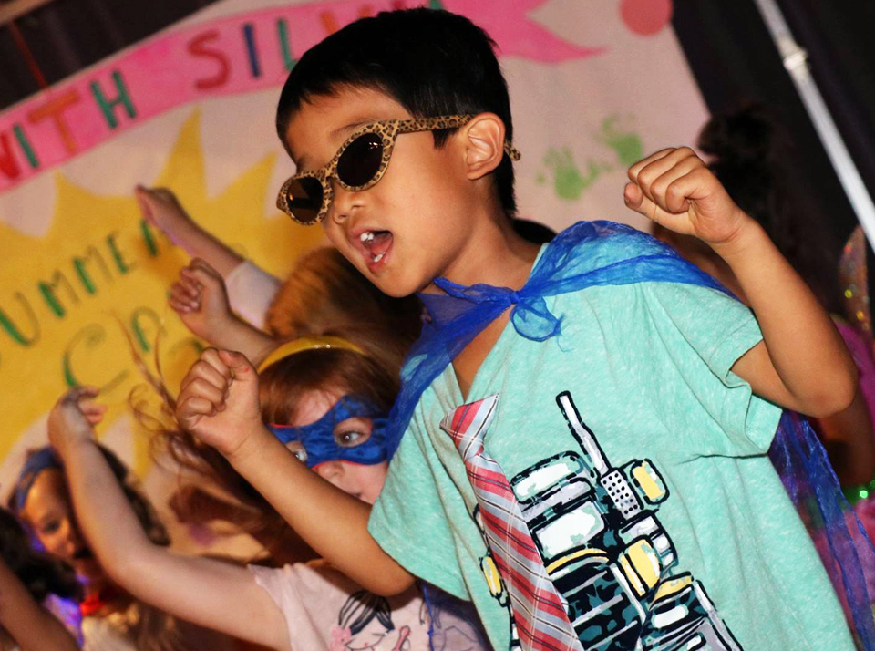 Theater, music and arts at the Salsa With Silvia dance and learning bilingual camps for kids.