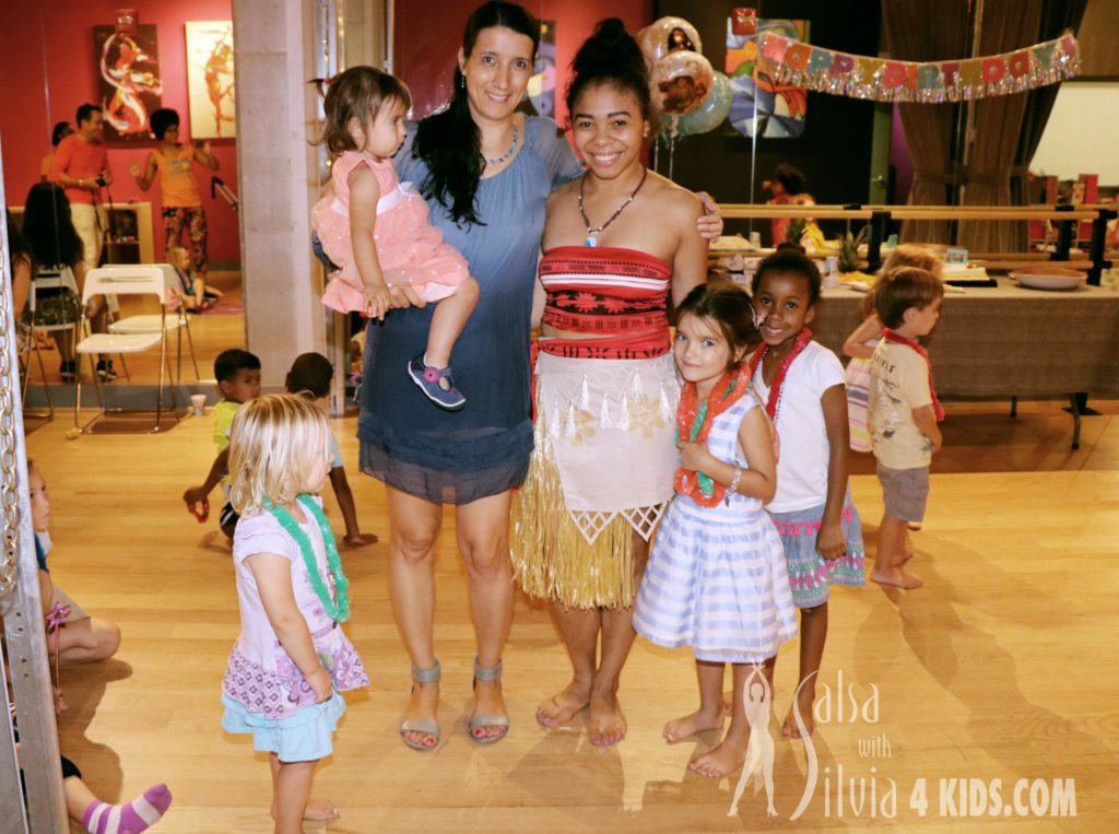 Moana birthday party at the Salsa With Silvia dance studio Washington, DC and Bethesda