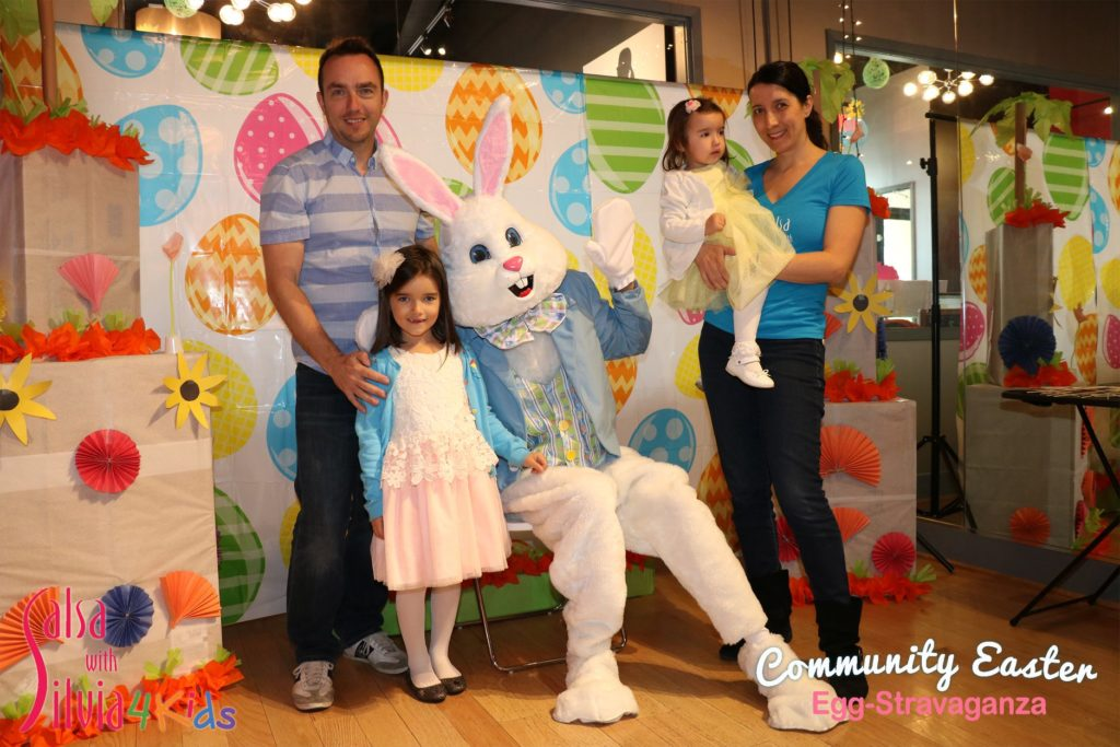 Easter party for kids at the Salsa With Silvia dance studio Washington DC and Bethesda, MD.