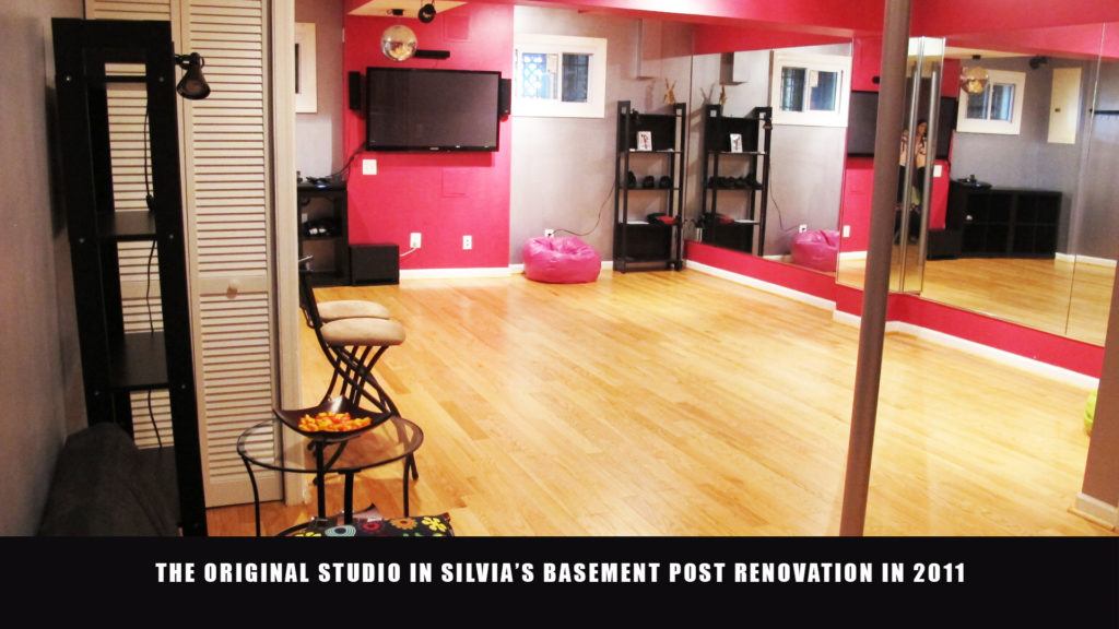 The first Salsa With Silvia dance studio was located in Silvia's basement in Columbia Heights, DC.