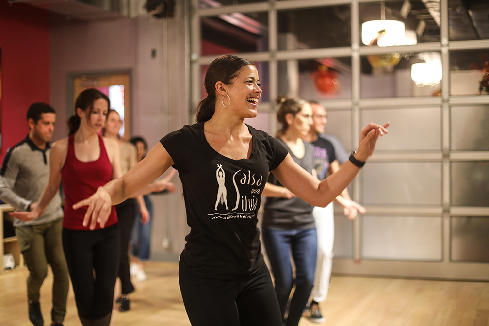 The Salsa With Silvia dance studio offers affordable salsa, bachata and merengue dance classes to adults in the DMV.
