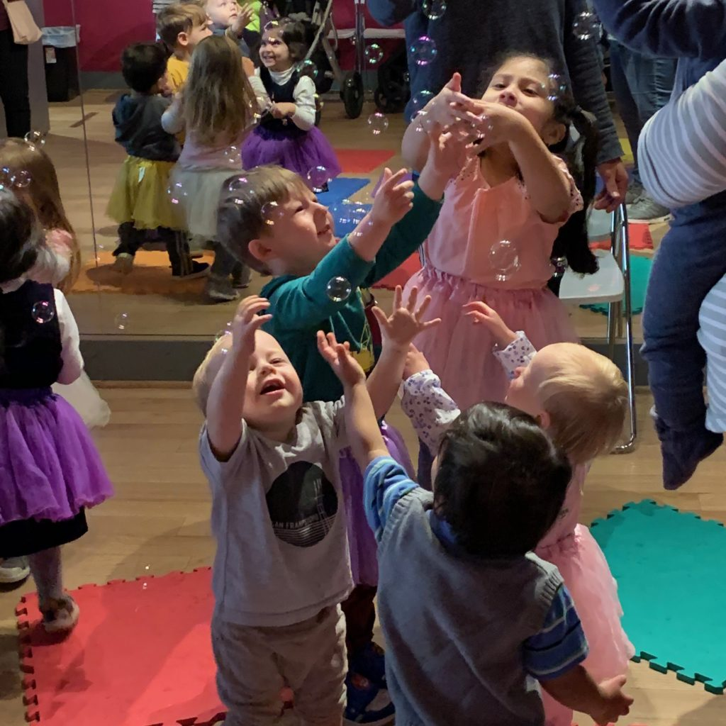 Little explorers baby dance class at the Salsa With Silvia dance studio in Bethesda, MD