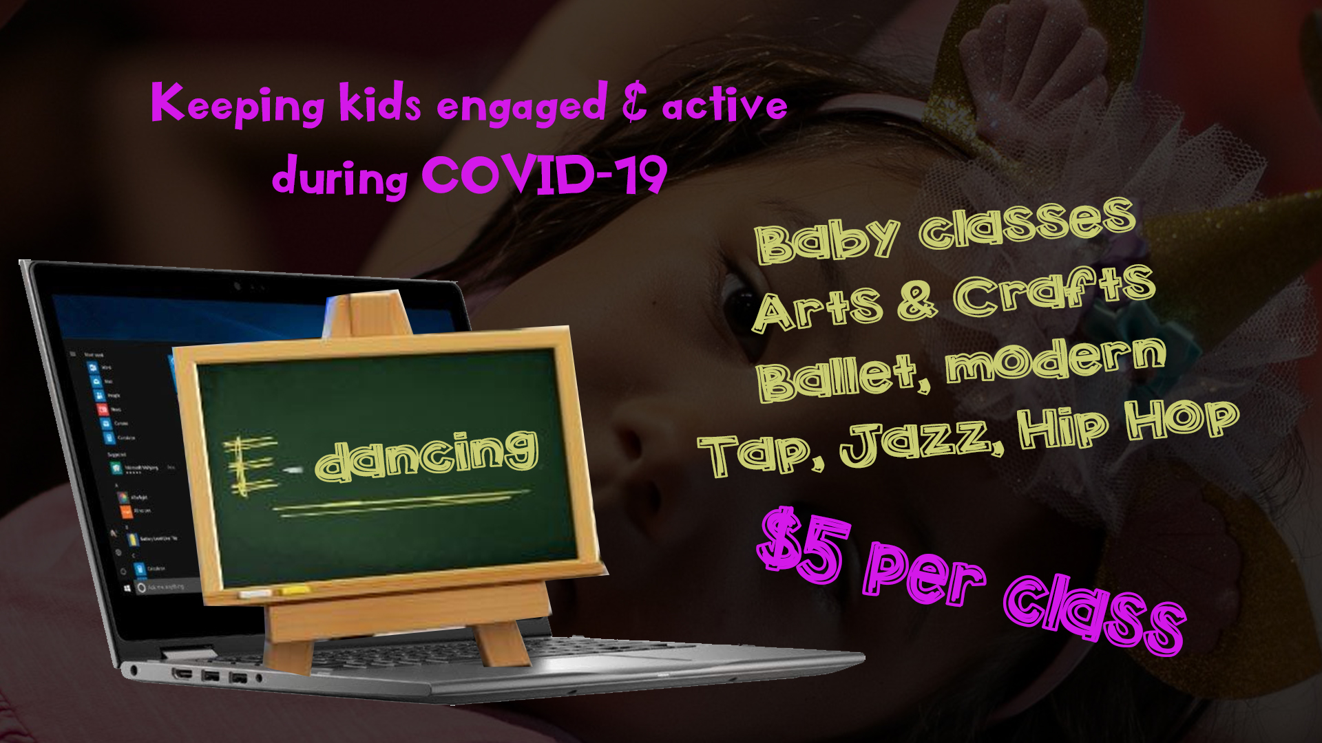 Live online dance lessons for kids during the COVID-19 (coronavirus) outbreak: ballet, tap, jazz, modern, hip hop, latin, storytime and more.