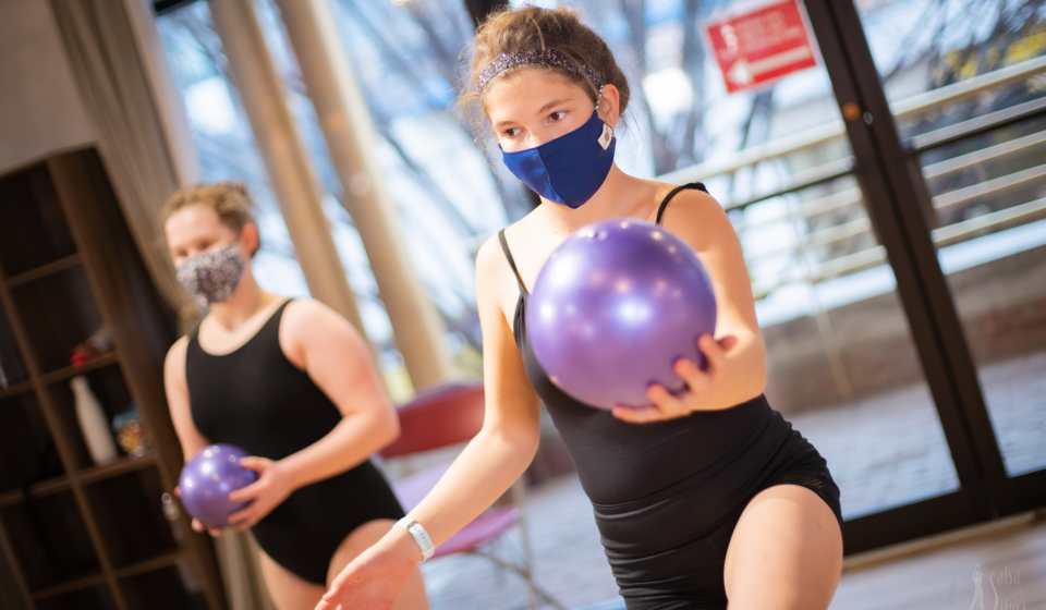 Rhythmic Gymnastics Competitive Program For Kids Ages 5 to 12 At The Salsa With Silvia Dance Studio in Bethesda with Coach Lilia Ashirova